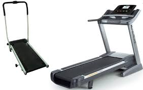 Manual treadmill and motorized treadmill